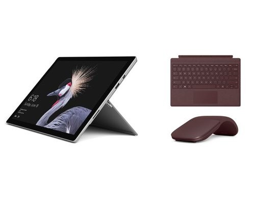 Microsoft Surface Pro 256GB i7 + Type Cover + Pen Tablet Intel® Core i7 der siebten Generation i7-7660U Schwarz, Silber