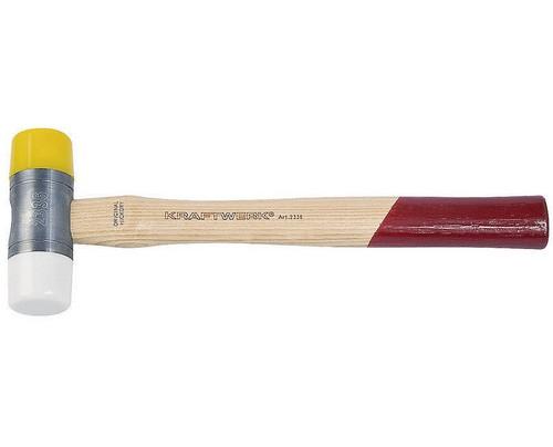 Kraftwerk 2336 - Rückschlagfreier Hammer - Polyurethan (PU) - Holz - Mehrfarbig - 305 mm - 360 g