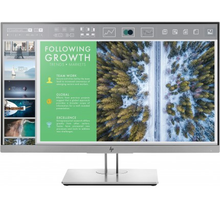 HP EliteDisplay E243 LED display 60,5 cm (23.8 Zoll) Full HD Flach Schwarz, Silber