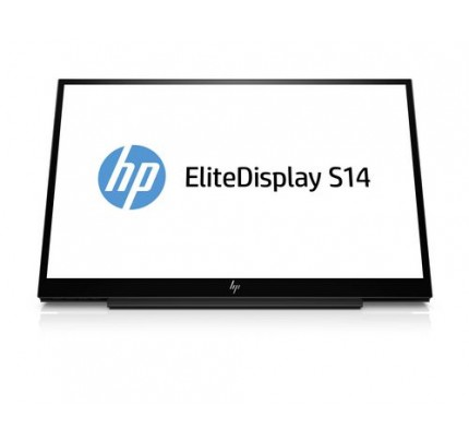 HP EliteDisplay S14 - 35,6 cm (14 Zoll) - 1920 x 1080 Pixel - Full HD - LED - 5 ms - Schwarz