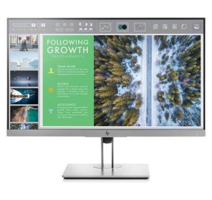 HP EliteDisplay E243 LED display 60,5 cm (23.8 Zoll) Full HD Flach Schwarz, Silber