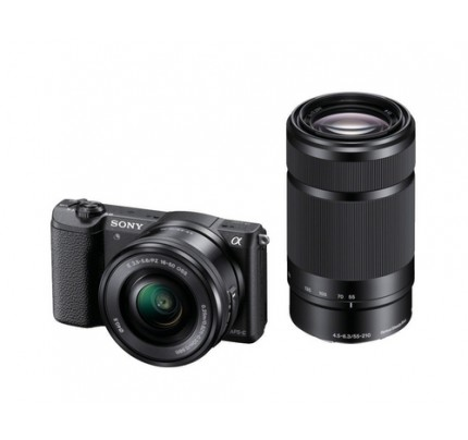 "Sony alpha 5100 - Digitalkamera - 24,3 MP CMOS 55 mm-210 mm 3x opt. - Display: 7,62 cm/3"" TFT - Schwarz"