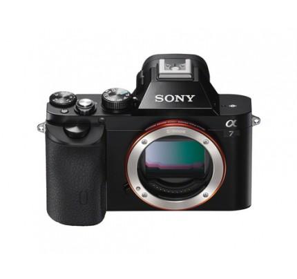 """Sony alpha 7 - Spiegelreflexkamera - 24,3 MP CMOS 24,3 mm-24,3 mm 24,3x opt. - Display: 7,62 cm/3"""" TFT - Schwarz"""