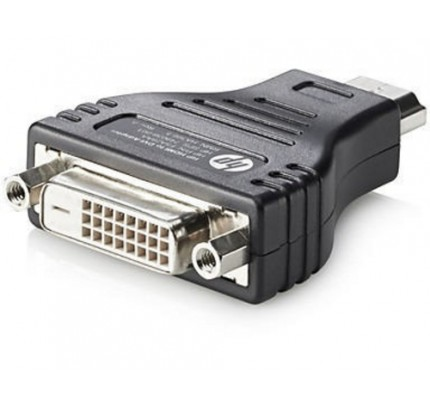 HP Adapter HDMI zu DVI - DVI-D - HDMI - Male connector / Female connector - Schwarz