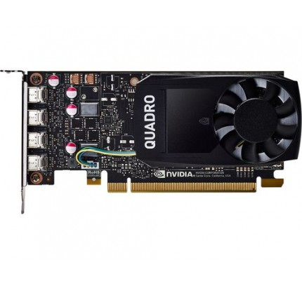 HP NVIDIA Quadro P1000 Grafikkarte mit 4 GB - Quadro P1000 - 4 GB - GDDR5 - 128 Bit - 5120 x 2880 Pixel - PCI Express x16 3.0