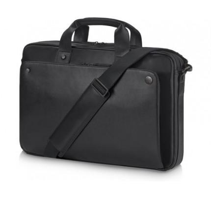 HP Executive Topload-Ledertasche - Schwarz (15,6 Zoll) - Schutzhülle - 39,6 cm (15.6 Zoll) - Schultergurt - 1,32 kg - Schwarz