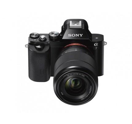 "Sony alpha 7 - Digitalkamera - 24,3 MP CMOS 28 mm-70 mm - Display: 7,62 cm/3"" TFT - Schwarz"