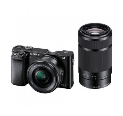 "Sony alpha 6000 - Digitalkamera - 24,3 MP CMOS 24,3 mm-24,3 mm 24,3x opt. - Display: 7,62 cm/3"" TFT - Schwarz"