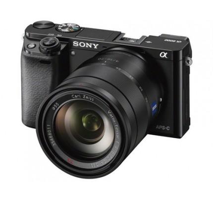 "Sony alpha 6000 - Digitalkamera - 24,3 MP CMOS 16 mm-70 mm 4,3x opt. - Display: 7,62 cm/3"" TFT - Schwarz"