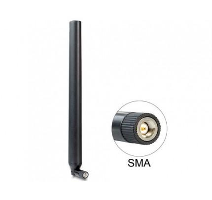 Delock 88436 - 4,5 dBi - 0.824 - 0.894 / 1.92 - 2.17 GHz - 50 Ohm - RP-SMA - Männlich - Vertikale Polarisation