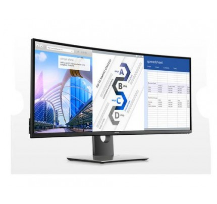 DELL UltraSharp U3417W LED display 86,7 cm (34.1 Zoll) Ultra-Wide Quad HD Gebogen Schwarz