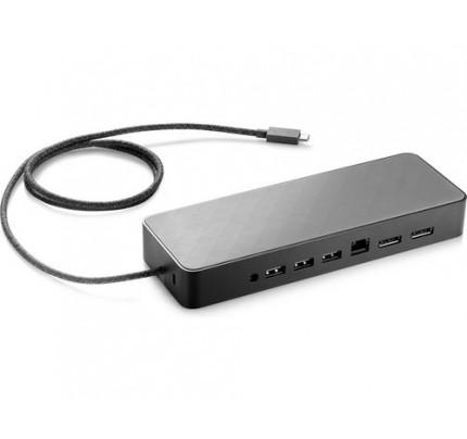 HP USB-C Universal Dockingstation - Verkabelt - USB 3.0 (3.1 Gen 1) Type-C - 10,100,1000 Mbit/s - Schwarz - HP - HP x2 1012 G2; HP x2 612 G2; HP x2 1012 G1; HP ProBook 470 G5; HP ProBook 450 G5; HP ProBook 440...