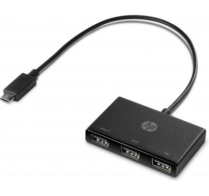 HP USB-C-zu-USB-A-Hub - Kabel - Digital / Daten - Schwarz