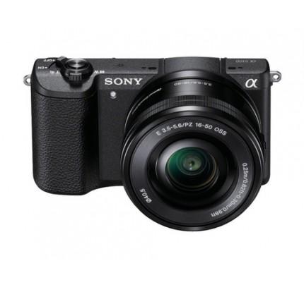 "Sony alpha 5100 - Digitalkamera - 24,3 MP CMOS 16 mm-50 mm 3x opt. - Display: 7,62 cm/3"" TFT - Schwarz"